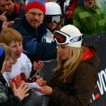 Signing Autographs at Mt. Bachelor, Ore.